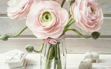 flowers, bouquet, ranunculus, porcelain, floral