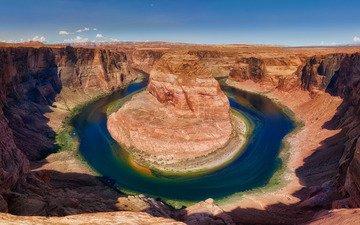 река, горы, скалы, природа, водоем, склоны, сша, берега, колорадо, рельеф, подкова, живописные места