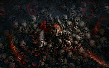 черепа и адский номер 666