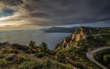 побережье, франция, cap canaille