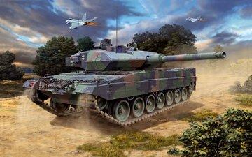 бак, bundeswehr, leopard 2a6_a6m, german main battele игра
