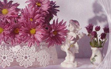buds, figurine, chrysanthemum