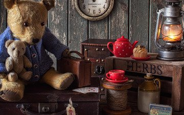 style, card, bear, lamp, watch, mug, toys, cup, kettle, suitcase, box, cake, cupcake, teddy bears, bottle