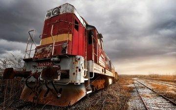 дорога, поезд, железная, техника, локомотив