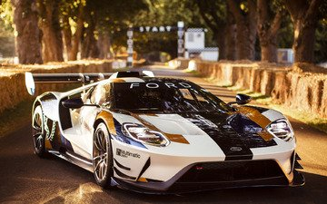 lights, sports car, ford, ford gt, mk ii