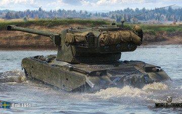 вода, танк, переправа, мир танков, wot, wargaming, emil 1951
