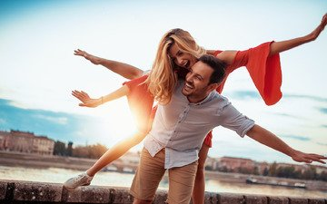 девушка, парень, радость, любовь, настроения, счастье, чувства, влюбленные
