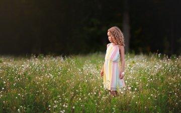 природа, лето, девочка