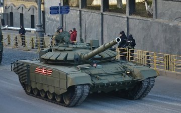tank, mbt, the armed forces of russia, victory parade, t-72 b3, rehearsal