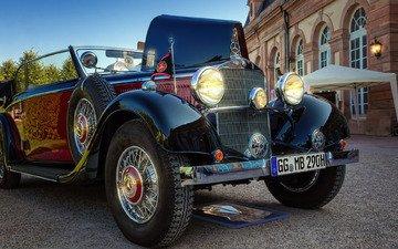photo, retro, auto, mercedes-benz, 1936, cabriolet, 290 b
