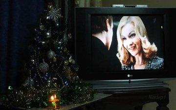 новый год, телевизор, ирония... зима кино пара праздник телевизор фильм ёлка, ирония судьбы, или с лёгким паром!
