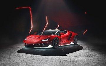 машина, красный, авто, ламборгини, спорткар, суперкар, lamborghini centenario, centenario