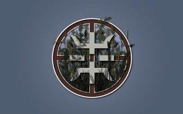 природа, лес, логотип, символ, знак, поселение, край, группировка, сурвариум, словяне