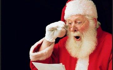 очки, дед мороз, письмо, шок