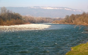 река, горы, природа
