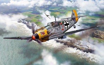 battle, fighter, britain, messerschmitt, me-109, bf.109, luftwaffe