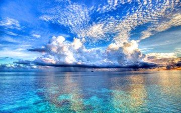 небо, облака, вода, природа, берег, пейзаж, море