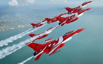 fighter, aerobatic team, f-16, f-16c, of singapore air force, the black knights, f-16c fighting falcon, black knights