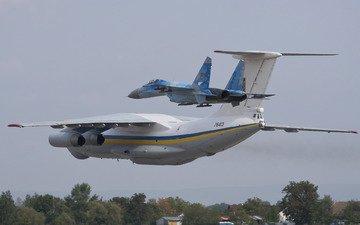 the plane, bbc, ukraine, su-27, military transport, il-76md