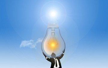 light, the sun, people, energy, light bulb