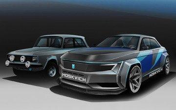 art, auto, car, the concept, muscovite, hella, moskvich 2020, muscovite 2020
