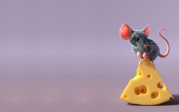 rendering, mouse, children's, freelancer, sergey pletnev, mouse and cheese