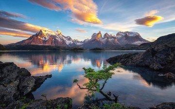 облака, природа, закат, пейзаж, красота
