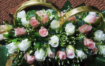 flowers, decoration, roses, wedding