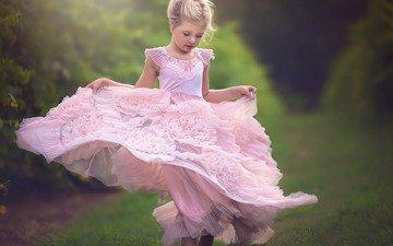 настроение, платье, девочка
