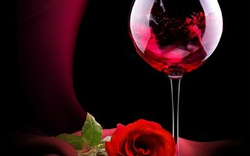 rose, red, glass