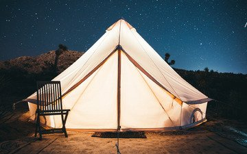 the sky, light, stars, chair, tent, entrance, kal loftus
