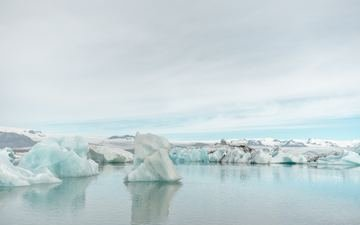 пейзаж, море, лёд, айсберг, ледник