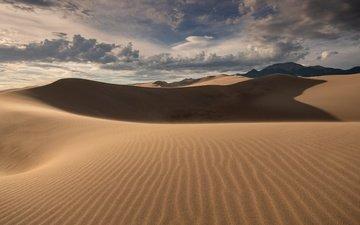 clouds, nature, sand, desert, dunes