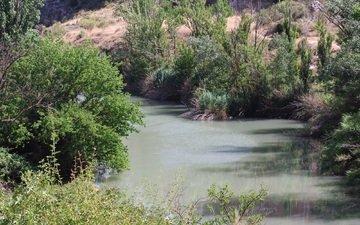 water, river, nature, reflection, spain, vegetation