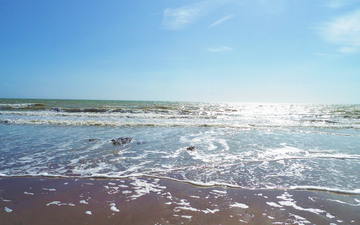 the sky, wave, sea, beach, coast, england