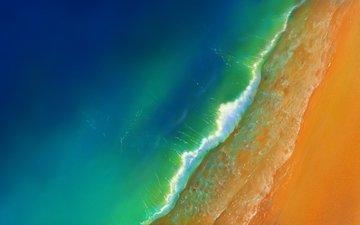 wave, sand, beach, the ocean