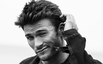 black and white, actor, male, scott eastwood