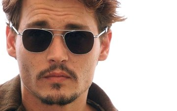 glasses, actor, johnny depp, face, male