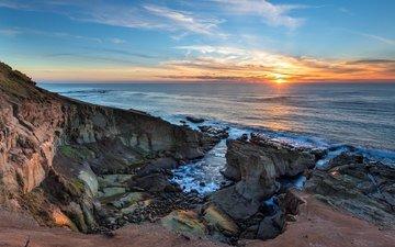beach, dawn, coast, the ocean, oregon coast