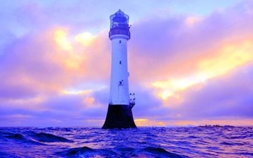 nature, sea, lighthouse, scotland, bell rock lighthouse angus