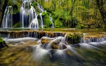 water, river, nature, waterfall, cascade