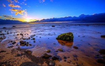 stones, beach, coast, the ocean, usa, hawaii, остров мауи