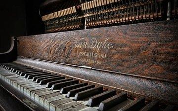 макро, музыка, пианино, клавиши, музыкальный инструмент, фортепиано
