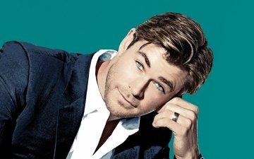 portrait, look, actor, ring, face, male, chris, chris hemsworth, hemsworth