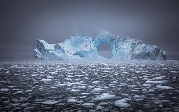 природа, море, лёд, айсберг, гренландия