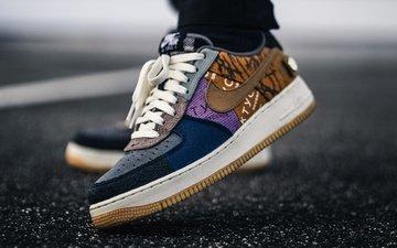 ноги, асфальт, обувь, кроссовки
