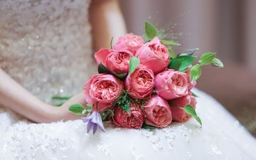 цветы, букет, невеста