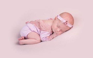 сон, дети, спит, ребенок, наряд, младенец, малышка