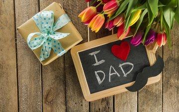 усы, букет, тюльпаны, семья, подарок, праздник, композиция, день отца