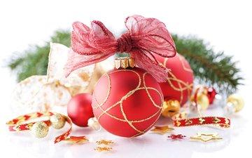 зима, игрушка, шар, праздник, рождество